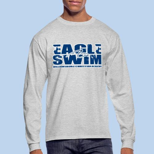 Eagle Swim men's LS tee-heather gray - Men's Long Sleeve T-Shirt