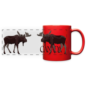 Canada Moose Souvenir Cups & Mugs - Full Color Panoramic Mug
