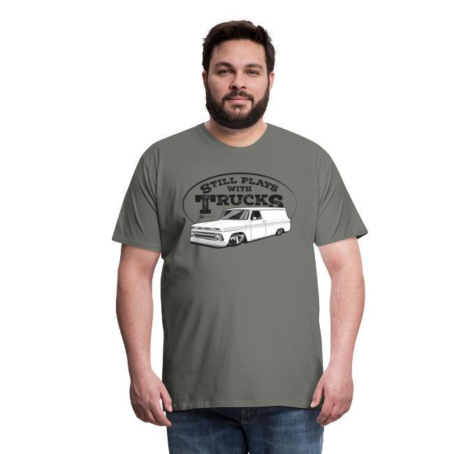 1964-66 Chevy Panel Truck Premium Tee Black Graphic