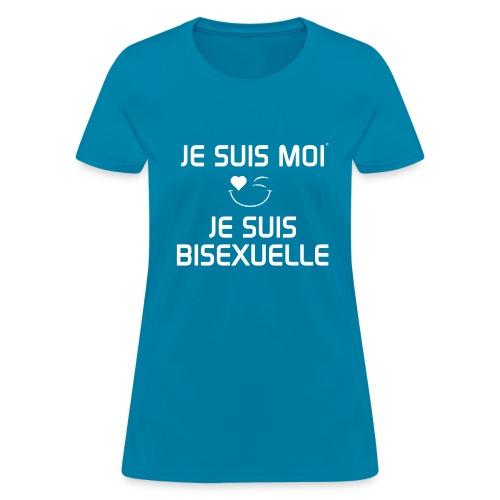 JE SUIS MOI - JE SUIS BISEXUELLE 100%cotton - T-shirt pour femmes