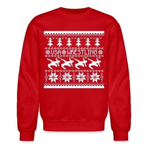 USA Wrestling Christmas Sweater - Crewneck Sweatshirt