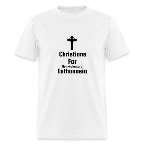 Christians for Euthanasia T-shirt - Men's T-Shirt