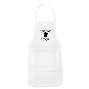Kiss the cook chief cap - Adjustable Apron