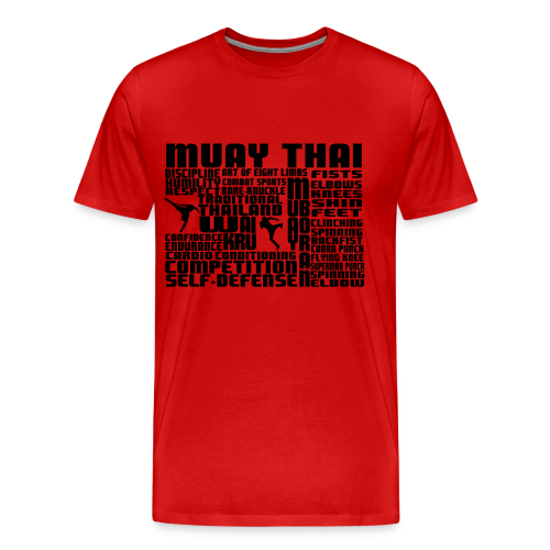 What is Muay Thai (Black Letterings) - Men's Premium T-Shirt