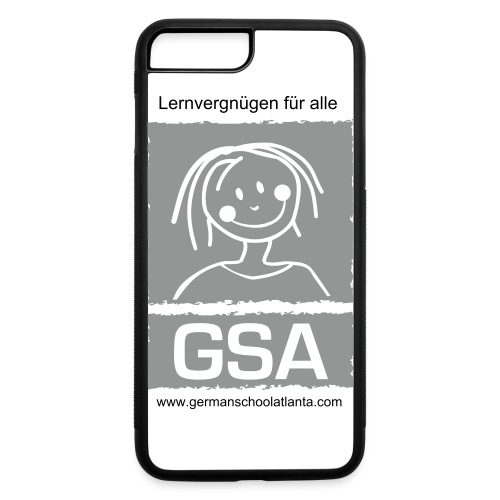 GSA cell phone case monochrome - iPhone 7 Plus/8 Plus Rubber Case