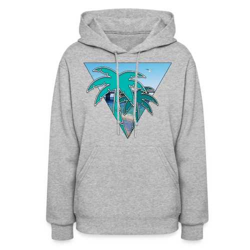 Miami Isle Beach Palm Tree Women's Hoodie - Women's Hoodie