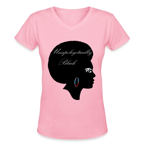 Unapologetic V-Neck T-Shirt - Women's V-Neck T-Shirt