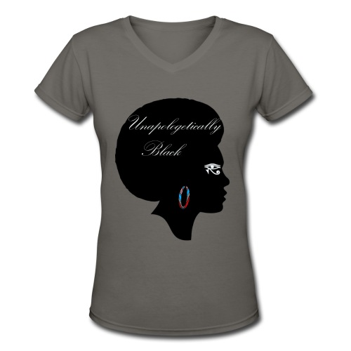 Unapologetic V-Neck T-Shirt - Women's V-Neck T-Shirt