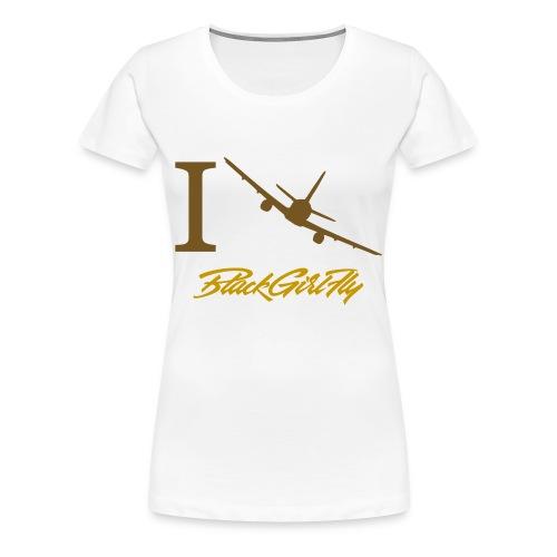 I Love BGF Womens Gold Foil - Women's Premium T-Shirt