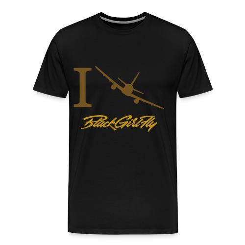 I Fly Gold Foil - Men's Premium T-Shirt