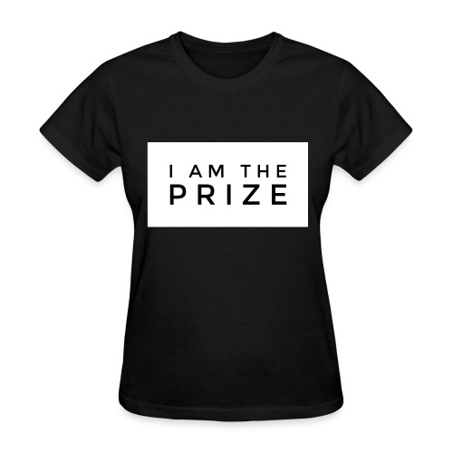 I AM The Prize Women's Confidence Tee - Black - Women's T-Shirt
