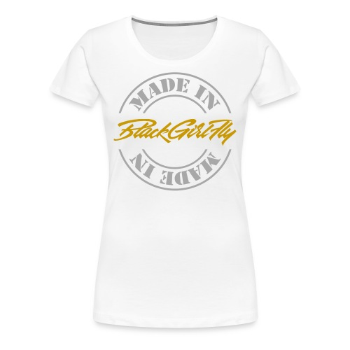 Made In BGF Silver Foil - Women's Premium T-Shirt
