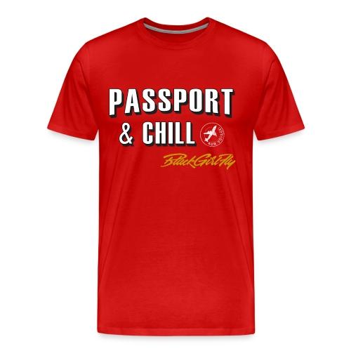 Passport & Chill-stamp - Men's Premium T-Shirt