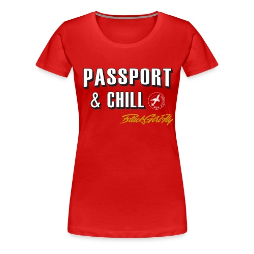 Passport & Chill-stamp - Women's Premium T-Shirt