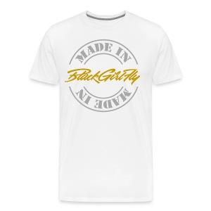 Made in BGF Silver Foil - Men's Premium T-Shirt