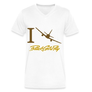 I Love BGF Womens Gold Foil - Men's V-Neck T-Shirt by Canvas
