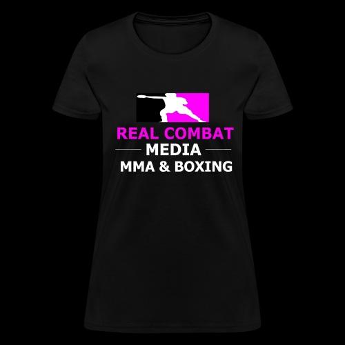 Real Combat Media Womens Pink T-Shirt - Women's T-Shirt