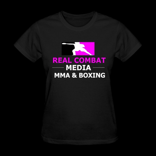 Real Combat Media Womens Pink T-Shirt - Women's T-Shirt