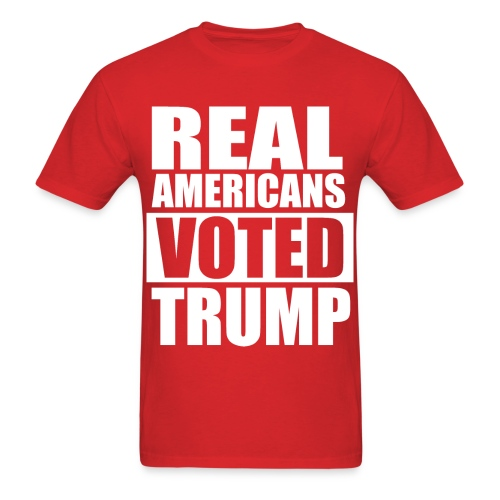 Real Americans Voted for Trump Republican Tshirt - Men's T-Shirt