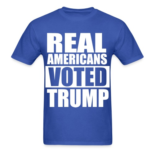 Real Americans Voted for Trump Democratic Tshirt - Men's T-Shirt