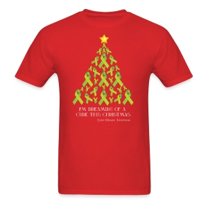 Mens Lyme Free Christmas Tee - Men's T-Shirt
