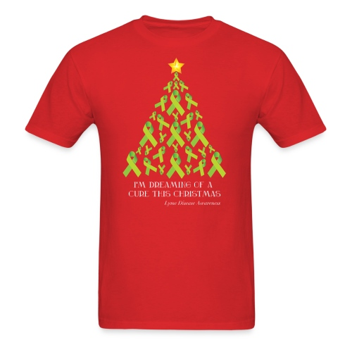 Mens Lyme Free Christmas Tee - Men's T-Shirt