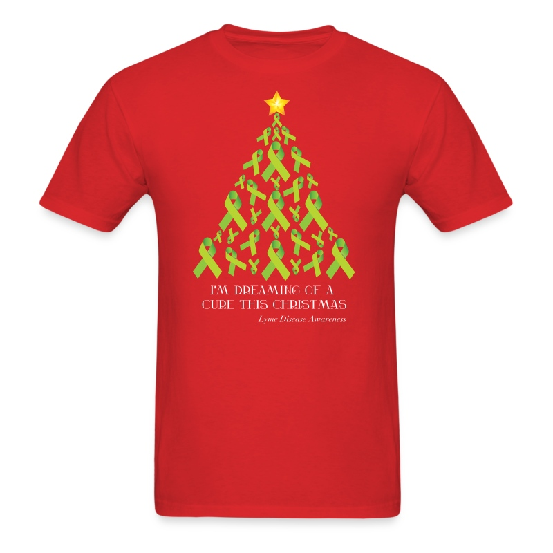 "Safety Yellow Shirts >> ""Lyme Free Christmas"" T-Shirts T-Shirt 