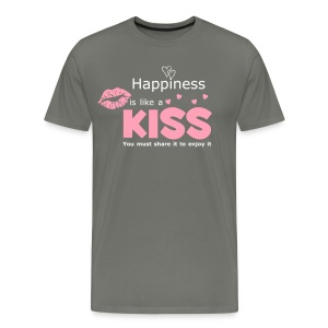 Men's Kiss Quote T-Shirt from South Seas Tees - Men's Premium T-Shirt