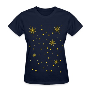 snowy day snowflakes Women's T-Shirt - Women's T-Shirt