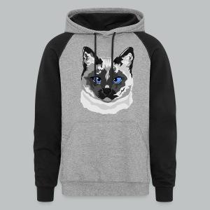 Siamese Cat - Men's - Colorblock Hoodie