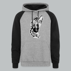 German Shepherd - Men's - Colorblock Hoodie