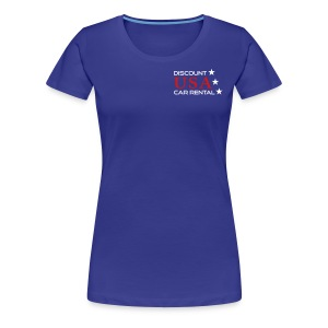 Discount USA Ladies Blue shirt - Women's Premium T-Shirt