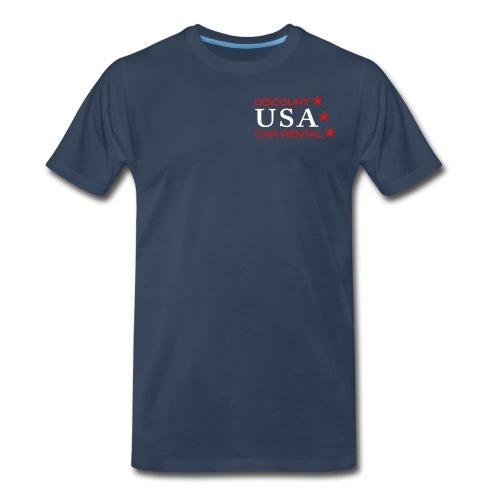 Discount USA Navy Shirt - Men's Premium T-Shirt