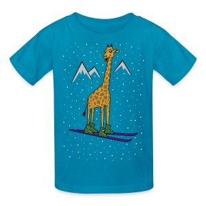 Skiraffe in the snow Kid T-Shirt - Kids' T-Shirt