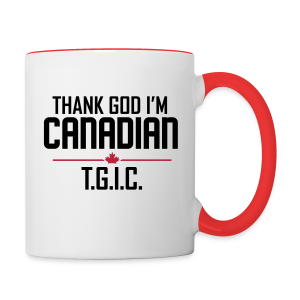 Thank God I'm Canadian (TGIC) - Contrast Coffee Mug