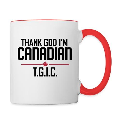 Thank God I'm Canadian (TGIC) - Contrast Coffee Mug