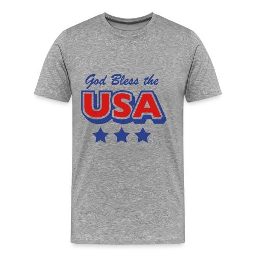 God Bless the USA T-Shirt - Men's Premium T-Shirt