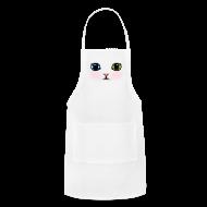 Aprons ~ Adjustable Apron ~ Heterochromia Kitten Apron