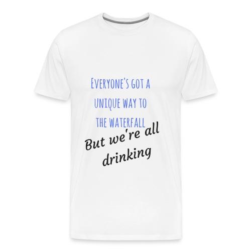 Unique Waterfall - Men's Premium T-Shirt