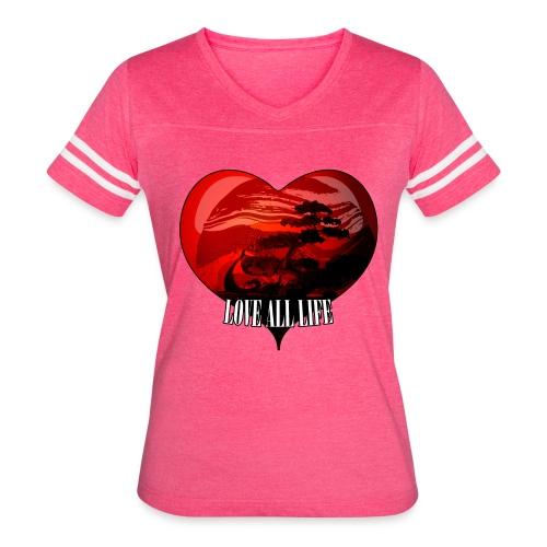 Love All Life Vintage Tee - Women's Vintage Sport T-Shirt