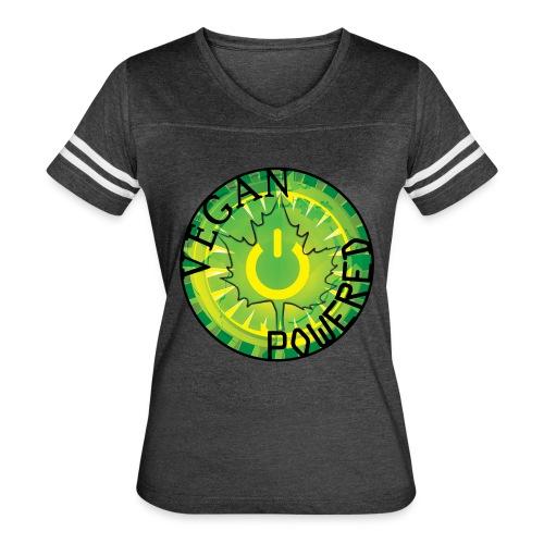Vegan Power Button Vintage Tee - Women's Vintage Sport T-Shirt