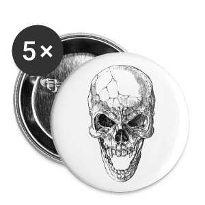 skull pin - Large Buttons