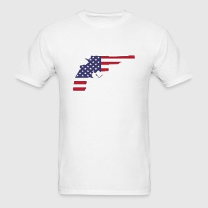 American Flag Gun - Men's T-Shirt
