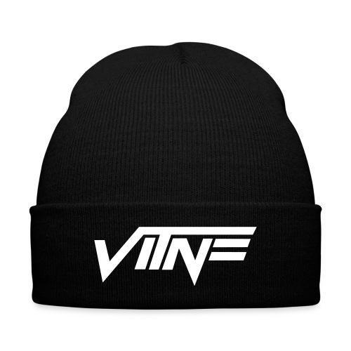 Vitne Beanie - Knit Cap with Cuff Print