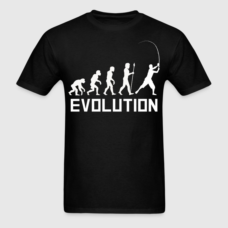 Fisherman Evolution Funny Fishing Shirt - Men's T-Shirt