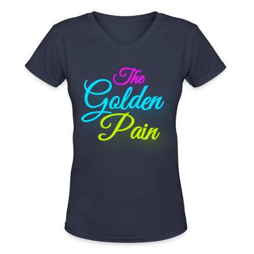 goldenpain neon - Women's V-Neck T-Shirt