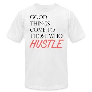 Hustle Harder - Men's Fine Jersey T-Shirt