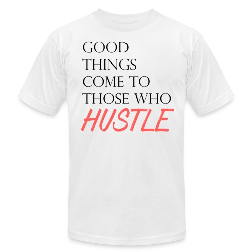 Hustle Harder - Men's Fine Jersey T-Shirt