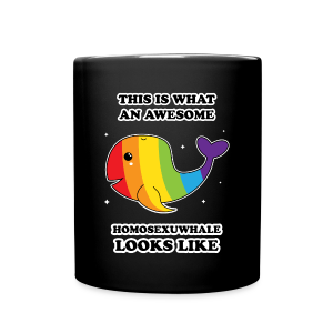 This is what an awesome homosexuwhale looks like LGBT Pride - Full Color Mug