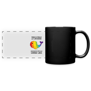 This is what an awesome homosexuwhale looks like LGBT Pride - Full Color Panoramic Mug